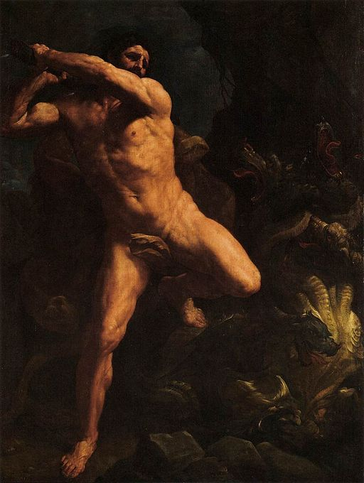 Guido Reni Hercules Vanquishing the Hydra of Lerma 1617-1620