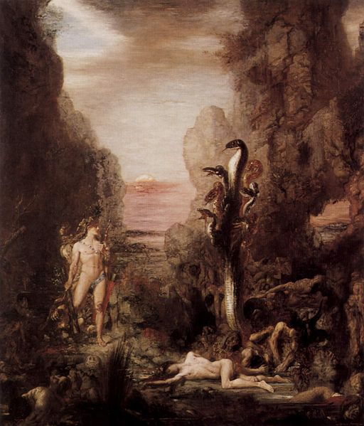 Gustave Moreau Hercules and the Lernaean Hydra 1869-1876