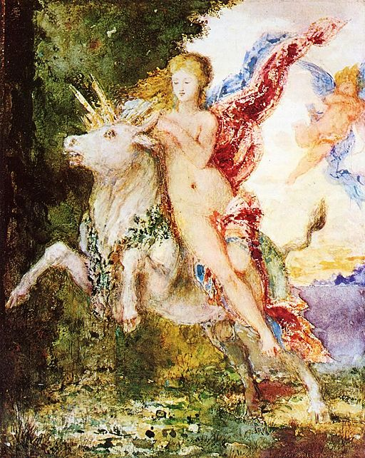 Gustave Moreau Europa and the Bull 1869