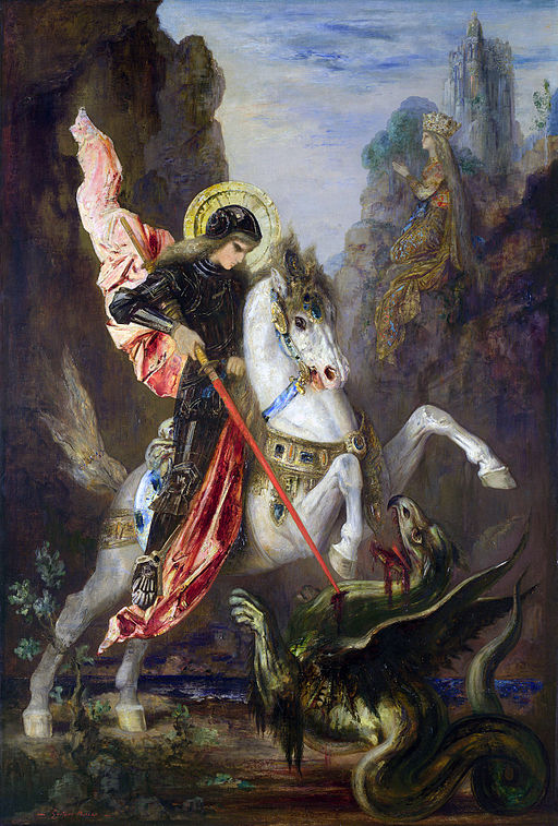 Gustave Moreau Saint George and the Dragon 1889-1890