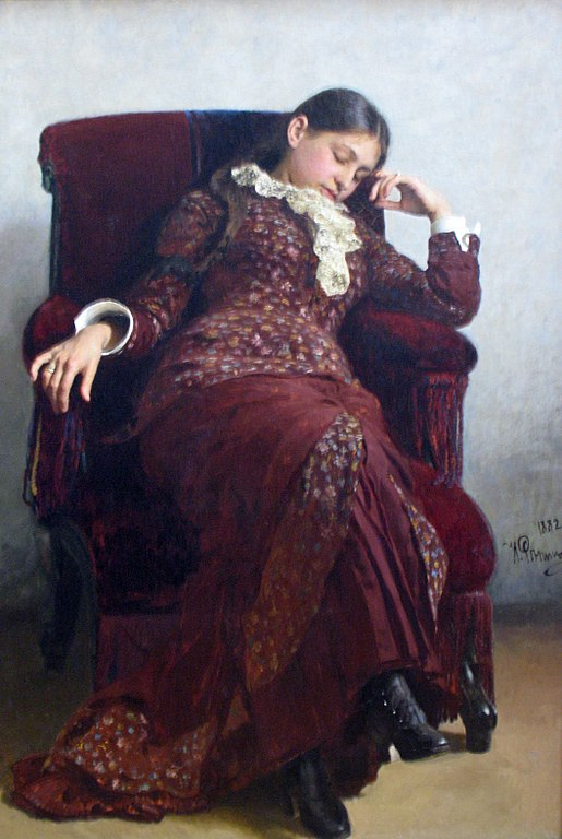 Ilya Repin Taking a rest 1882