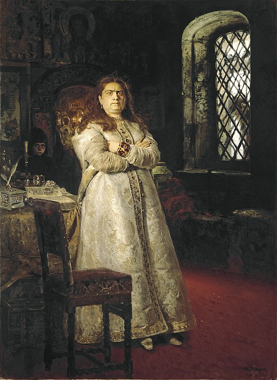 Ilya Repin Grand Duchess Sofia at the Novodevichy Convent 1879