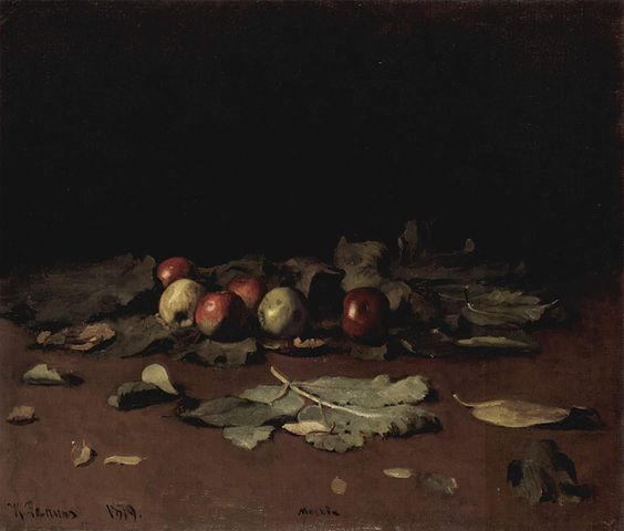 Ilya Repin Apples and leaves 1879