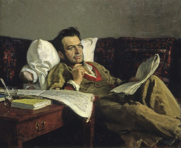 "Ilya Repin Mikhail Ivanovich Glinka during the composition of the opera ""Ruslan and Lyudmila"" 1887"