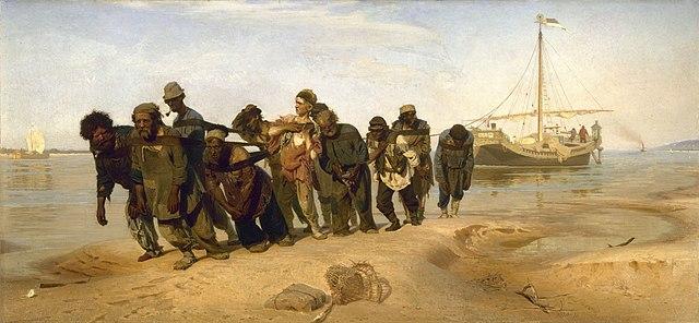 Ilya Repin Barge Haulers on the Volga 1870-1873