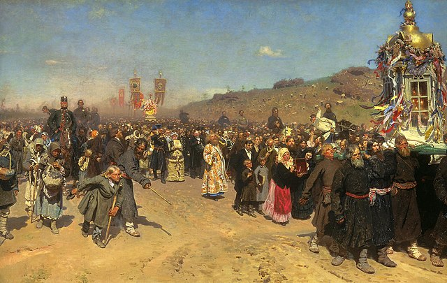 Ilya Repin Religious Procession in Kursk Province 1880-1883