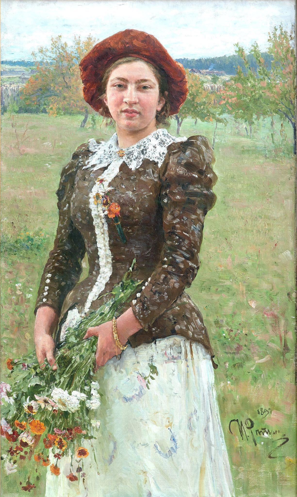 Ilya Repin Autumn Bunch. Portrait of Vera Ilyinichna Repina, the Artist's Daughter  1892