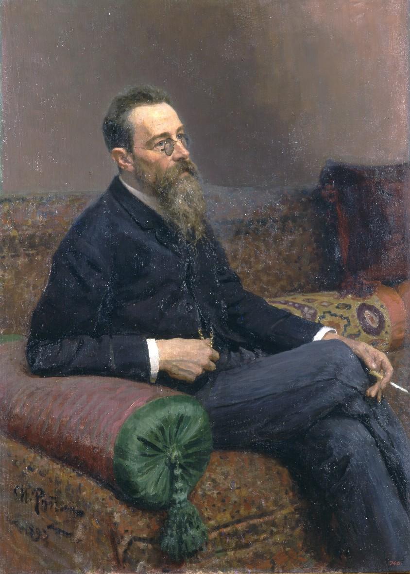 Ilya Repin Portrait of Composer Nikolai Andreyevich Rimsky-Korsakov 1893