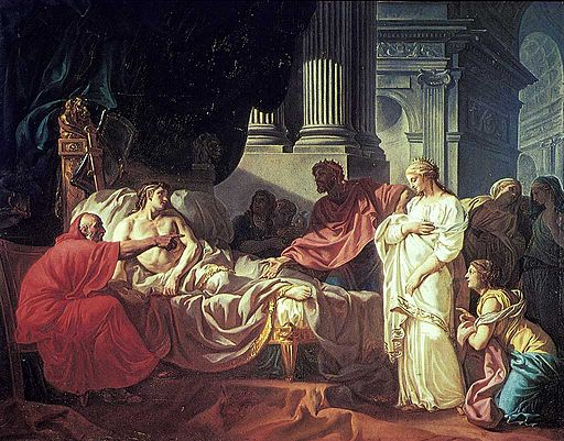 Jacques-Louis David Antiochus and Stratonica 1774