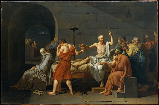 Jacques-Louis David The Death of Socrates 1787