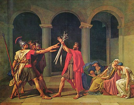 Jacques-Louis David The Oath of the Horatii 1784