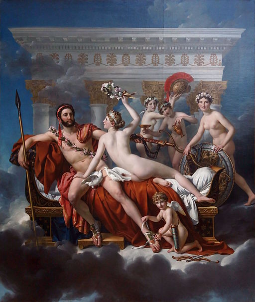 Jacques-Louis David Mars disarmed by Venus 1822-1824