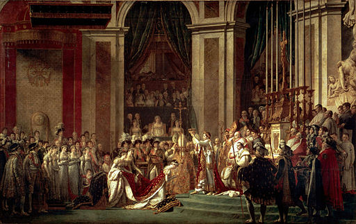 Jacques-Louis David Coronation of Emperor Napoleon I and Coronation of the Empress Josephine in Notre-Dame de Paris 1805-1807