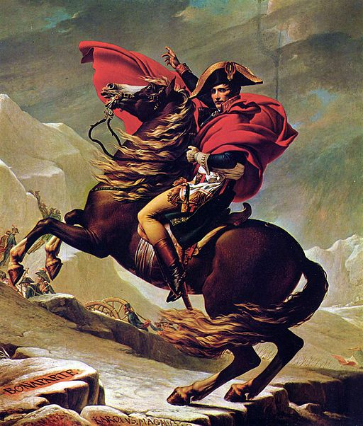 Jacques-Louis David Napoleon Crossing the Alps 1801