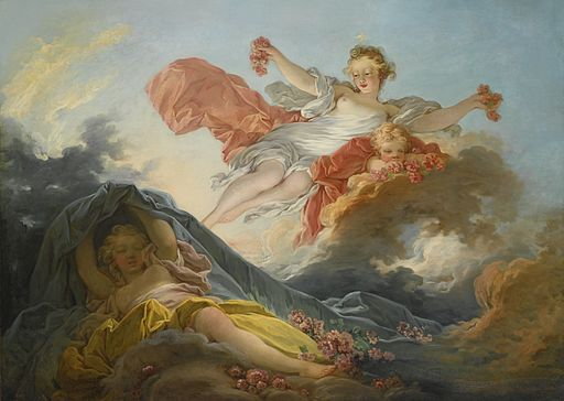 Jean-Honoré Fragonard The Goddess Aurora triumphing over Night 1755-1756