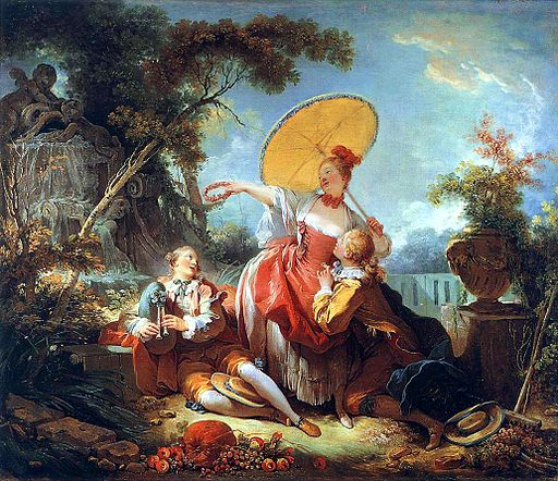 Jean-Honoré Fragonard The musical contest 1754-1755
