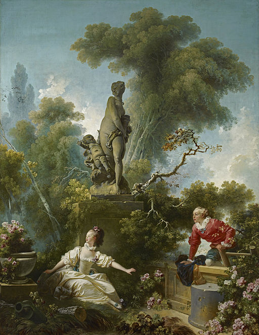 Jean-Honoré Fragonard The Progress of Love: The Meeting 1771-1773