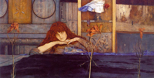 Fernand Khnopff I lock my door upon myself 1891