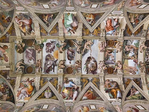 Michelangelo The ceiling of the Sistine Chapel 1508-1512