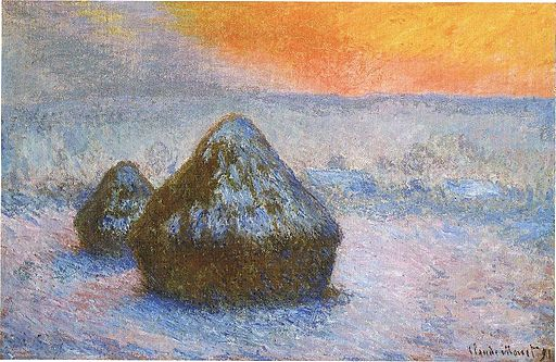 Claude Monet Stacks of Wheat (Sunset, Snow Effect) 1890-1891