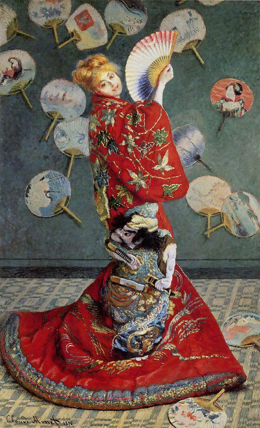 Claude Monet Madame Monet wearing a kimono 1875-1876