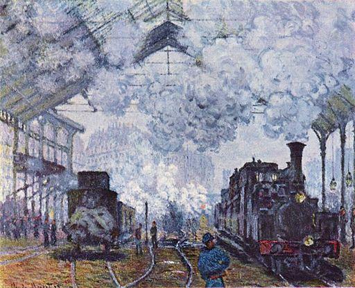 Claude Monet Bahnhof Saint Lazare in Paris 1877