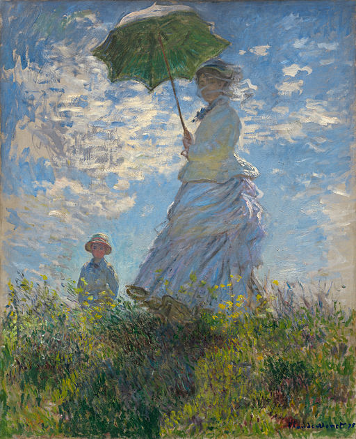Claude Monet Woman with a Parasol - Madame Monet and Her Son 1875