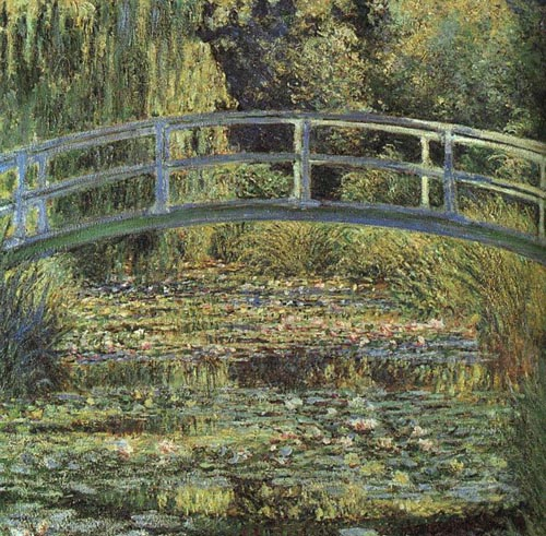 Claude Monet The Japanese Footbridge and the Water Lily Pool, Giverny 1899
