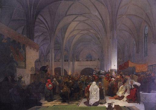 Alfons Maria Mucha Kazani mistra jana husa v kapli betlemske