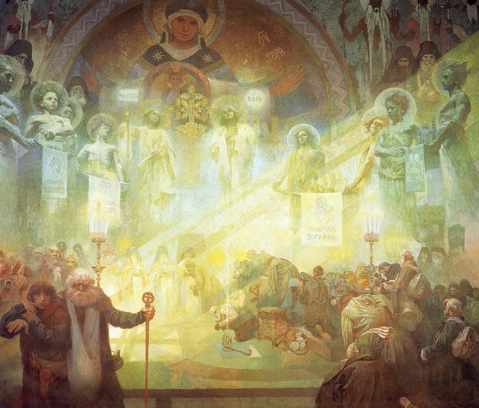 Alfons Maria Mucha Der Heilige Berg Athos