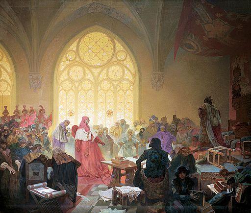Alfons Maria Mucha Jiří z Poděbrad, král obojího lidu