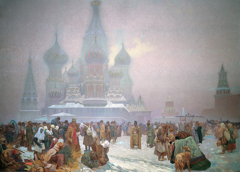 Alfons Maria Mucha Zrušení nevolnictví na Rusi