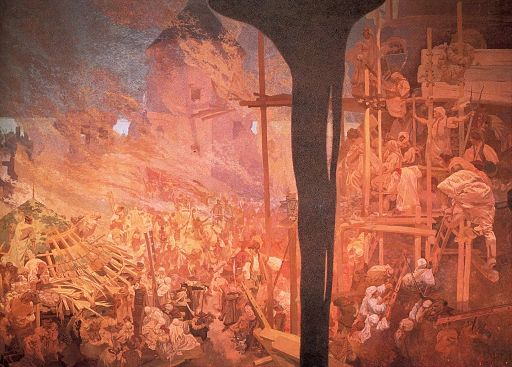 Alfons Maria Mucha Defense of Sziget against the Turks by Nicholas Zrinsky