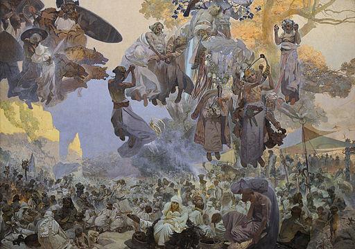 Alfons Maria Mucha Slavnost svatovitova na rujane