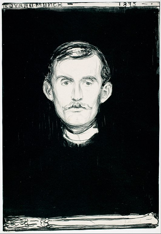Edvard Munch Self-Portrait 1895