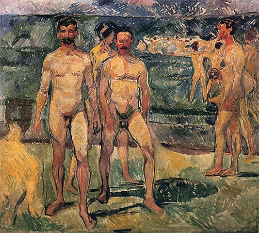 Edvard Munch Bathing Men 1907