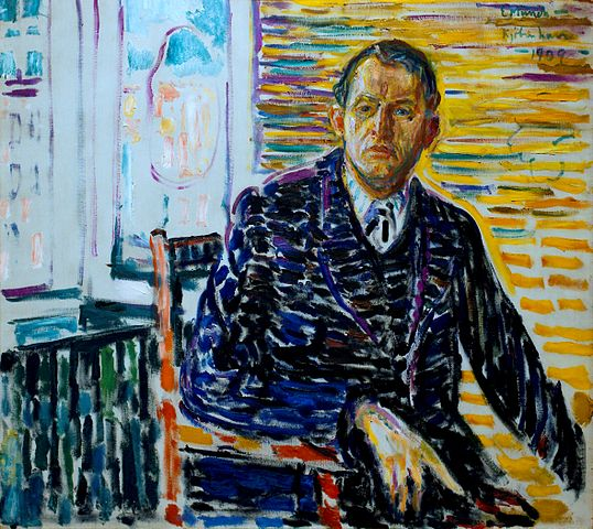 Edvard Munch Self-Portrait in the Clinic 1909