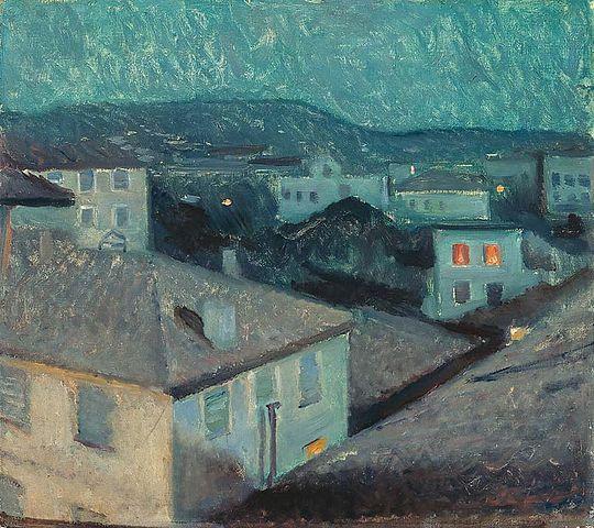 Edvard Munch Night in Nice 1891