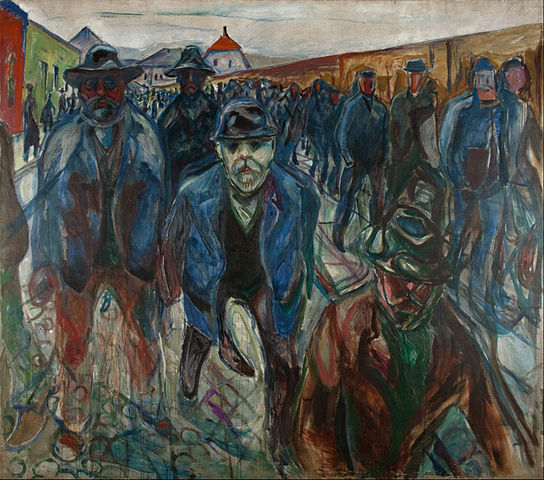 Edvard Munch Workers on their Way Home 1913-1915
