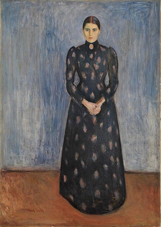 Edvard Munch Inger in Black and Violet 1892