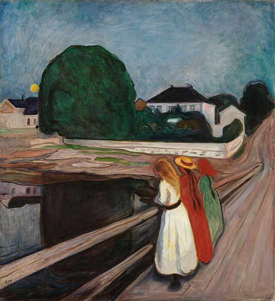 Edvard Munch Girls on the pier 1901