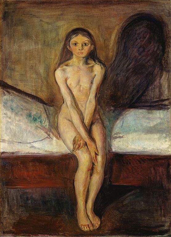 Edvard Munch Puberty 1895-1896