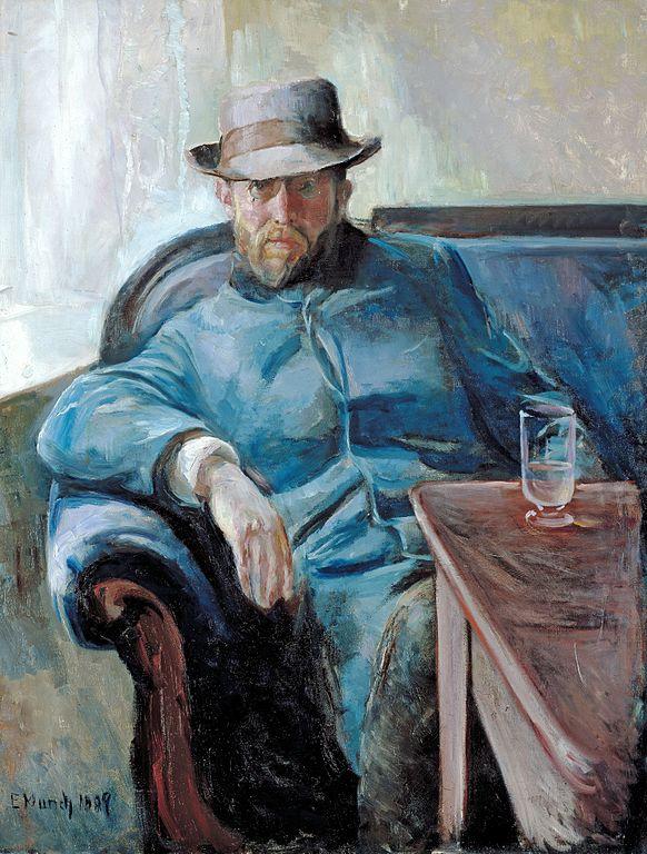 Edvard Munch Hans Jæger painted 1889