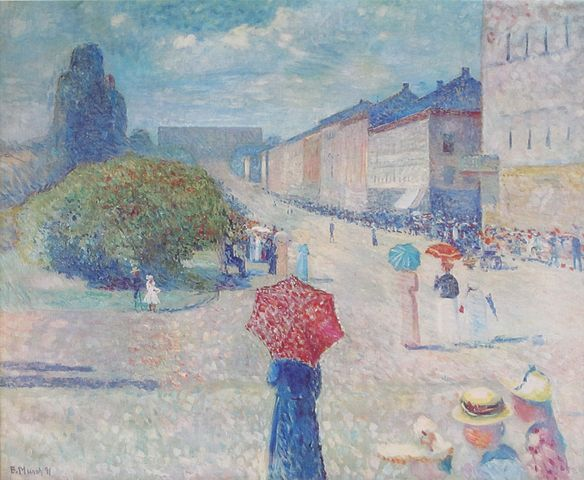 Edvard Munch Spring Day on Karl Johan 1890