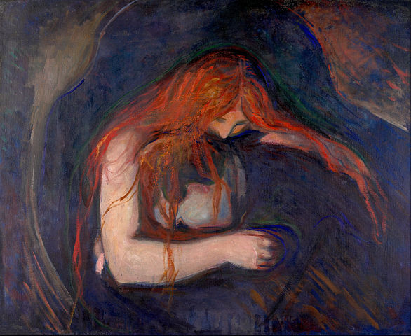 Edvard Munch Vampire 1895