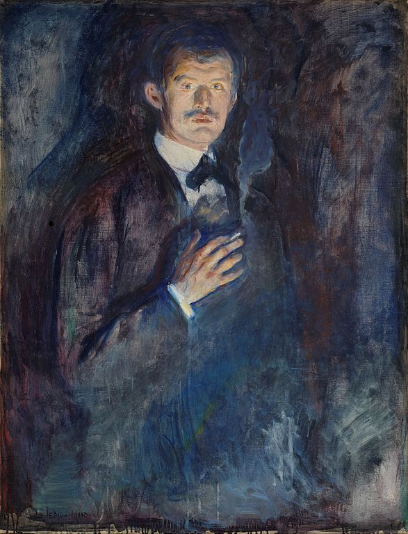 Edvard Munch Self-Portrait with Burning Cigarette 1895