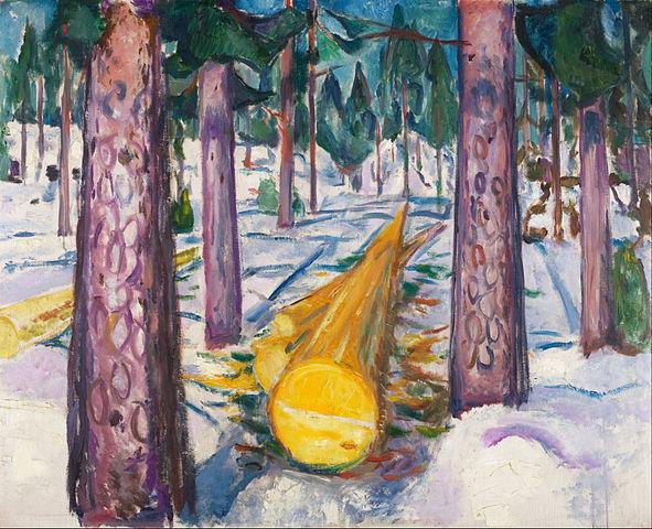 Edvard Munch The Yellow Log 1912