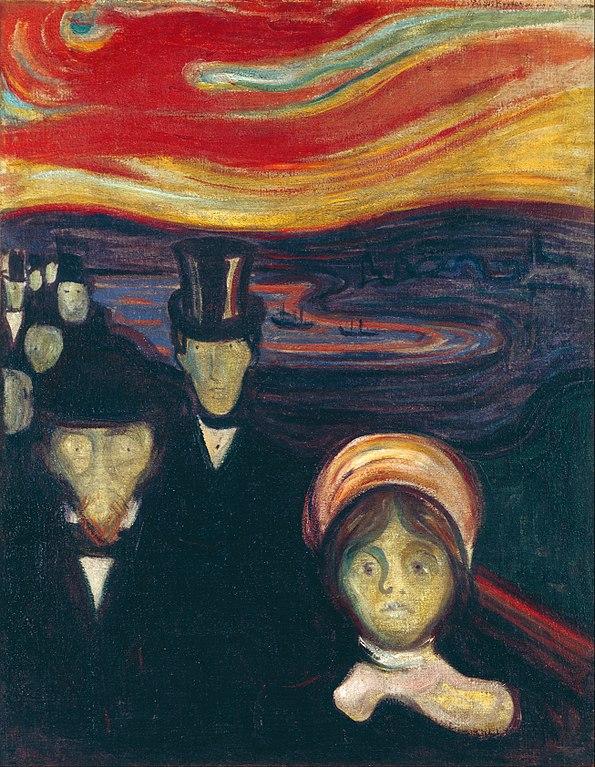 Edvard Munch Anxiety 1894