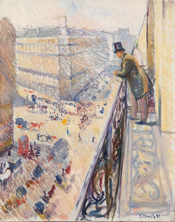 Edvard Munch Rue Lafayette 1891