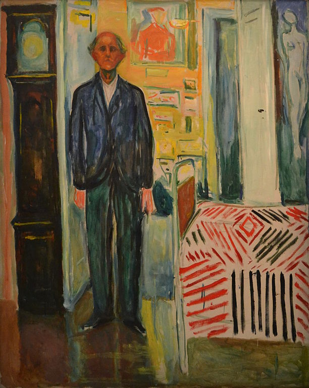 Edvard Munch Self-Portrait. Between the Clock and the Bed 1940-1944